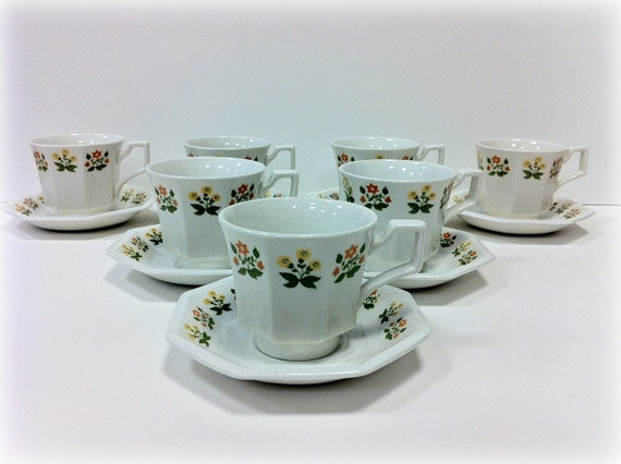 Johnson Brothers Posy Dishes Cups and Saucers