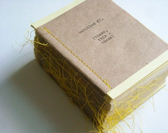 Untitled 2 (these, this - these) - Zine / Chapbook / Little Book / Handmade