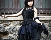 Gothic Brocade Bustier and Handkerchief Skirt