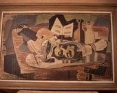 Vintage Print / 40's George Braque Print in Original Frame
