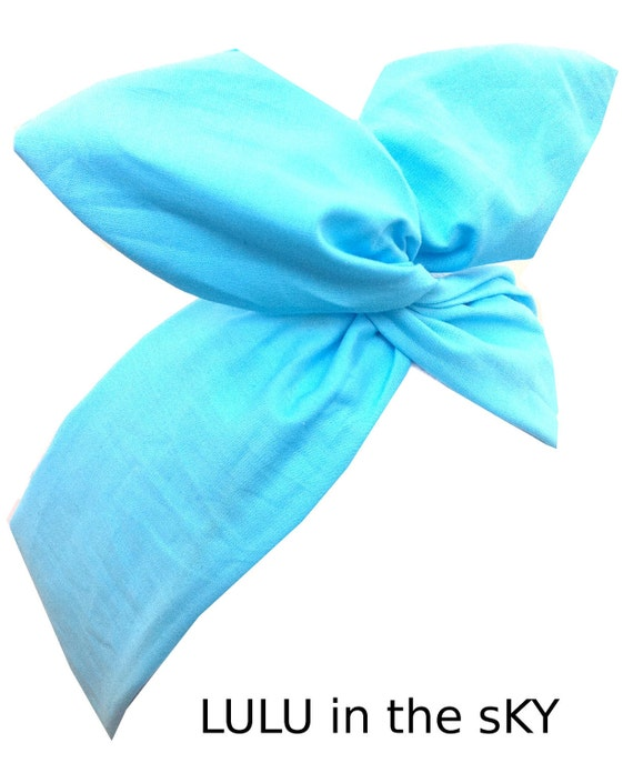 Light turquoise pastel dolly bow