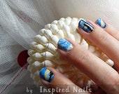 Van Gogh Starry Night Nail Art in Full Nail Decals