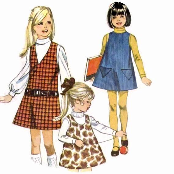 Vintage 1969 Childs Jumper Size 4 Simplicity Pattern 8372