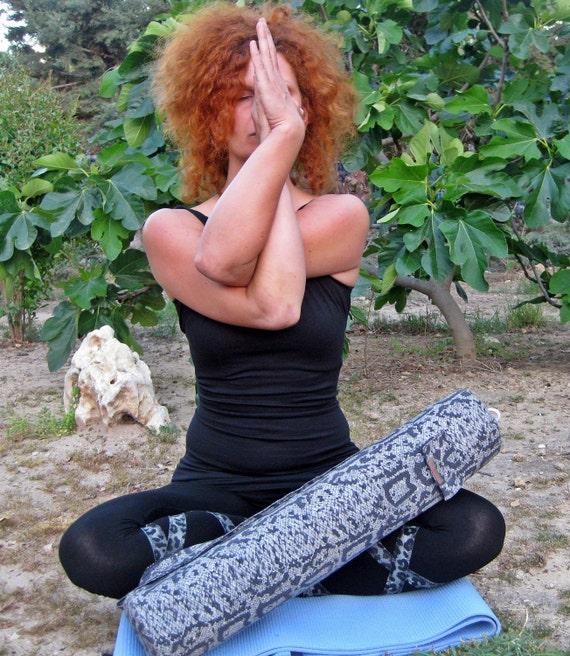 CLEARANCE SALE Funky yoga mat bag, yoga bag with pocket