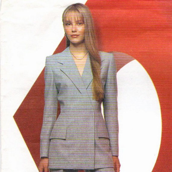Alexander McQueen for Givenchy double-breasted pantsuit pattern -- B34 -- Vogue Paris Original 2467