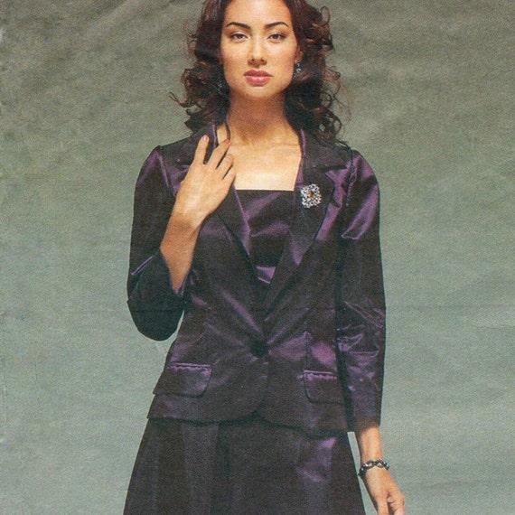 Alber Elbaz for Guy Laroche evening jacket, top & skirt pattern -- Vogue Paris Original 2497