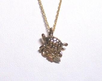 Whitaker's Black Hills Gold Small Turtle Pendant
