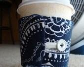 Fancy Blue Coffee Cozy - Nice design - Fashionable