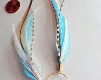 Kingfisher Blue Feather Earrings