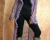 Tara - Lavender Knit Sweater Coat New Fall Collection by Eva Bella