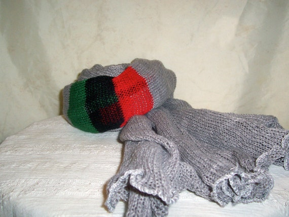 Rastafari Head Wrap Scarf or Shawl W/ Liberation Colors  (FREE US SHIPPING)