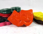 Theatre Mask Crayons - Comedy & Tragedy - Set of 9 - CrayonMavens