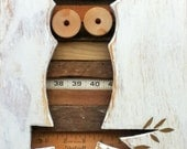 Reclaimed Wood Art -  Sail - Owl