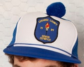 Trucker Hat with Ball On Top - Senior Olympics