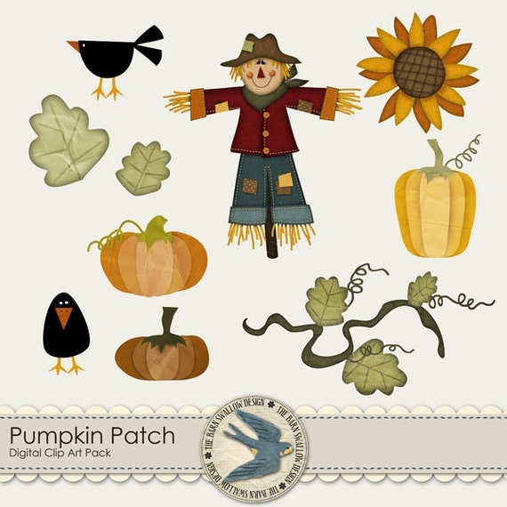 Pumpkin Patch Digital Clip art Pack by TheBarnSwallowDesign