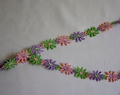 1960s Flower Trim / Great for Sewing Projects