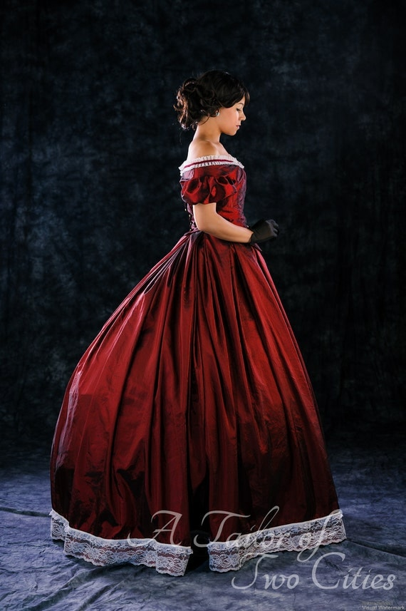 Custom Victorian Ballgown, including undergarments
