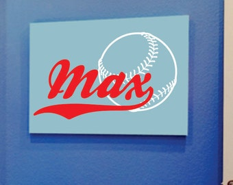 Baseball Decal - Name Wall Decal - Boys Name Wall Decal - Sports Vinyl Wall Art - Baseball Decor