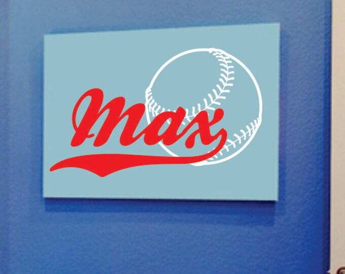 Baseball Decal - Name Wall Decal - Boys Name Wall Decal - Sports Vinyl Wall Art - Baseball Decor