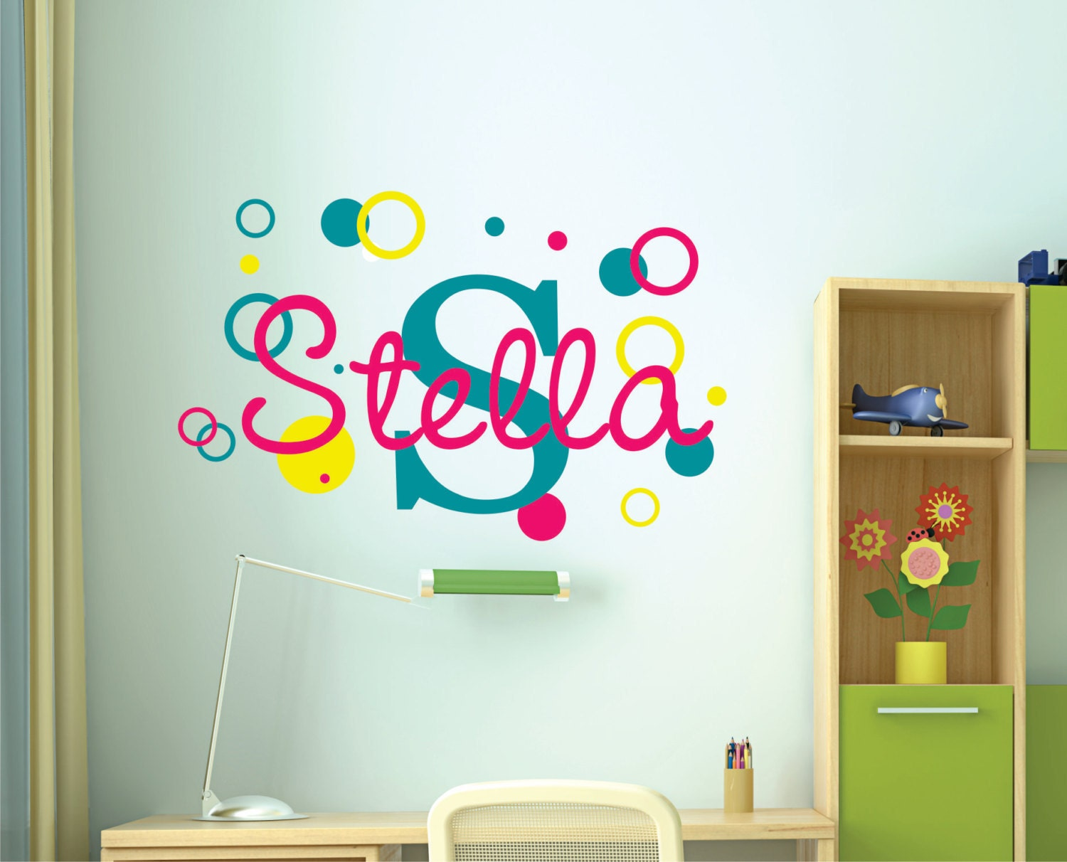 name wall decal name wall decal childrens wall decals girls name vinyl wall lettering. Black Bedroom Furniture Sets. Home Design Ideas