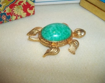 Avon Tortoise For Perfume Glace Copyright 1971 In Original Box