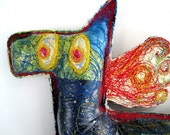 Recycled Art Sculpture - The Starry Eyed Horse - One of a Kind Soft Sculpture Made With Recycled Plastic Bags