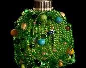 "May flowers hand beaded Christmas ornament 1.5"" bulb"