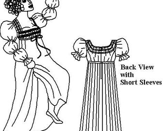 Regency Frock Pattern: Multi Size Historical Sewing Pattern for 1795 - 1820, 1810-1