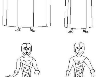 Georgian Skirt / Petticoats Sewing Pattern: Multi Size Historical Pattern, 1700-4
