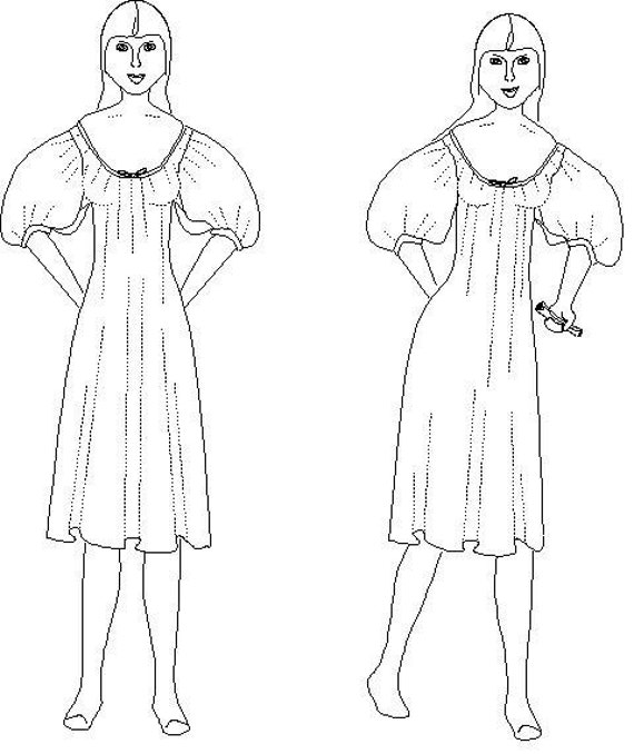 Chemise or Shift, Underwear Pattern: Historical Sewing Pattern, 1800-1