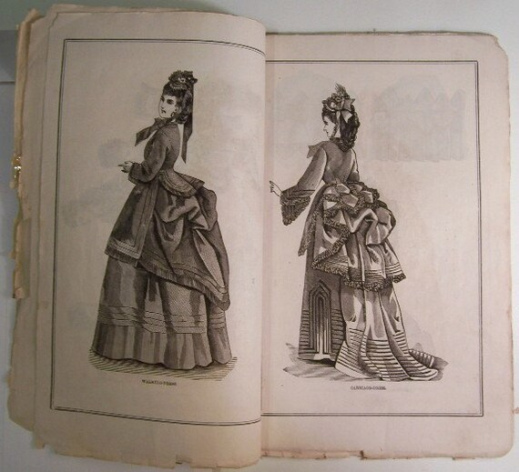 Petersons Ladies Magazine, Victorian Women Fashion, April 1872 / Full Issue