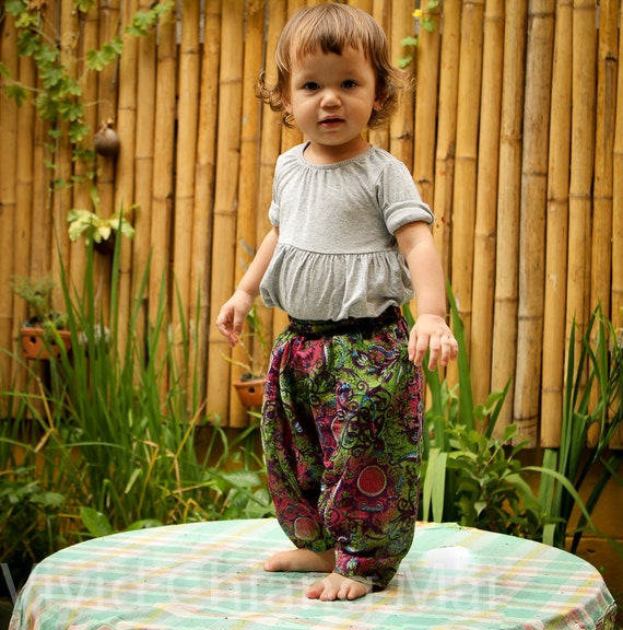 Toddler harem pants baby pantaloons genie trousers 12-24 months size 2T