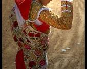 During the paseo - Signed photo 8 x 12 - BOGO sale - corrida bullfight matador torero bullfighting orange gold sun