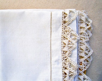 vintage tea towel linen set