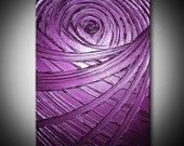 Violet Painting Burgundy Purple Plum Abstract Acrylic Sculptural Healing Violet - 18x24 High Quality Original Modern Fine Art