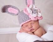 Crochet Bunny hat (custom order)