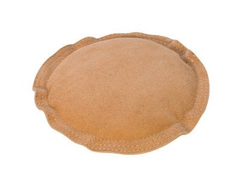 SAND BAG ROUND Large 5 Inch Suede Leather - Stamping - Chasing - Forming Metal - Deadens the Sound when Hammering