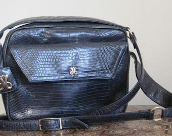 Jay Herbert / Jay Herbert Purse / Nautical / 80s Bag / 80s Leather / Navy Leather Handbag / Preppy / Crossbody Bag / Classic / Shoulder Bag