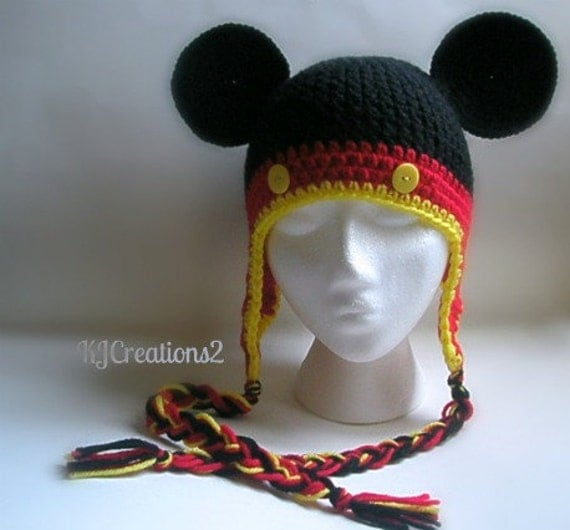 Mouse hat-newborn to adult-made to order