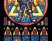 Half Size - Starcraft Terran Stained Glass Illustration