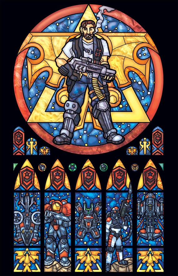 Full Size - Starcraft Terran Stained Glass Illustration