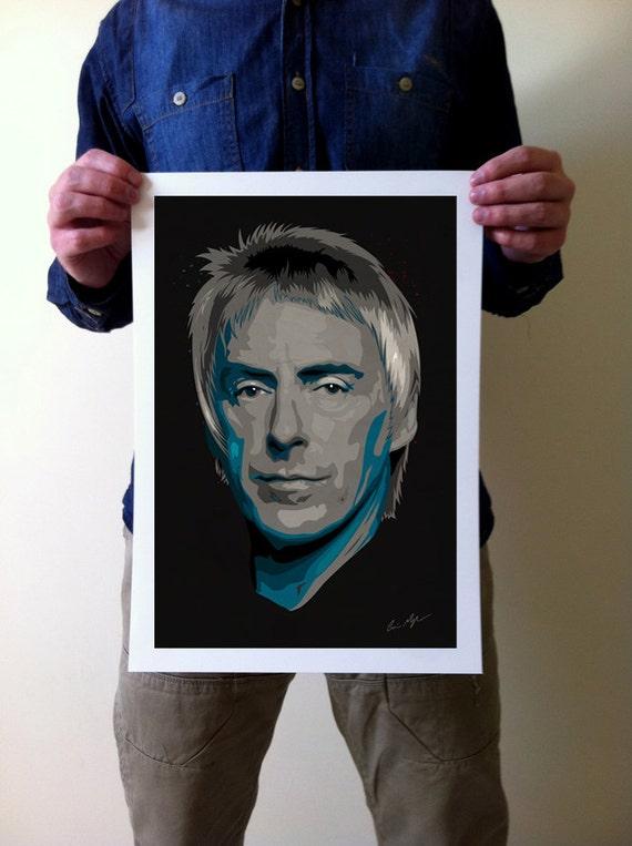 Paul Weller Art Print - A3 Portrait