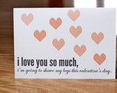 I Love You So Much, I'll Shave My Legs (Individual Blank Card)