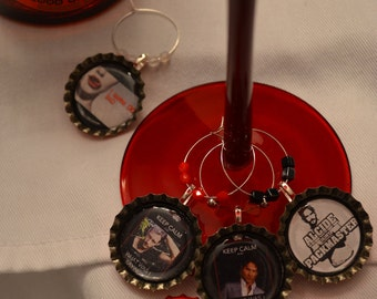 The Men Of True Blood Wine Charm Set