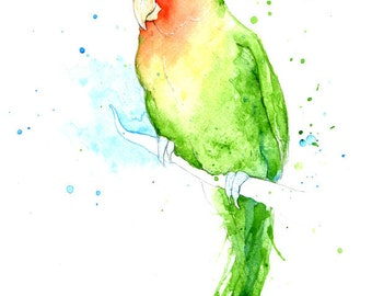 Love Bird - Original Watercolour Painting by Amy Holliday