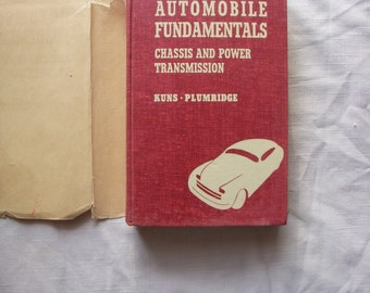 1947 Automobile  Fundimentals  Book , Chassis  and  Power Transmission