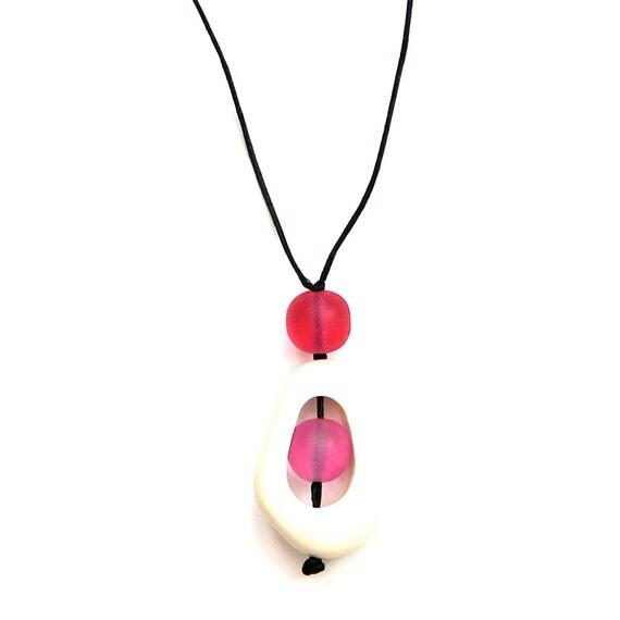 Baby Safe Jewelry - Nursing Necklace - White, Pink, Magenta, Fuschia