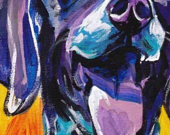 "German Shorthaired pointer gsp art print pop dog art bright colors 8.5x11""  LEA"