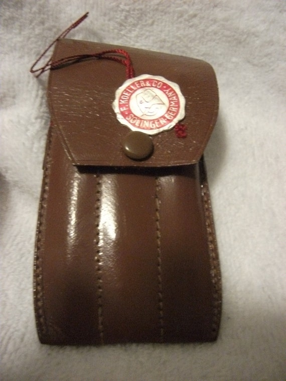 Vintage F. Koeller & Co. Manicure Kit Original Leather Case made in Solingen, Germany Only 22 USD