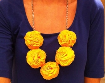Yellow Garden Pinks Necklace